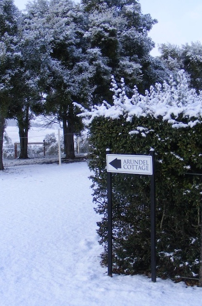 snowfall at Arundel